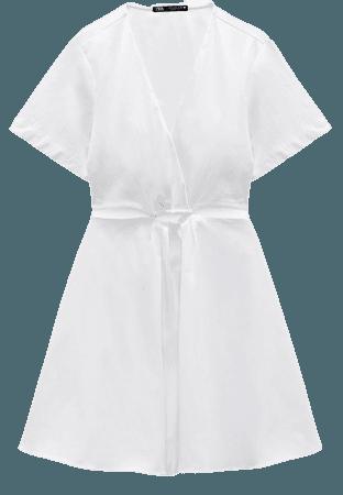 CUT OUT POPLIN DRESS   ZARA United States