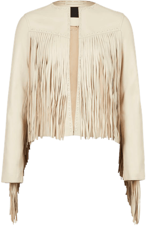 ALLSAINTS US: Womens Astral Leather Tassel Jacket (off_white)