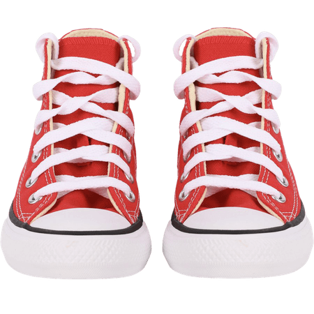 Converse Classic Logo High Sneakers in Red and White - BAMBINIFASHION.COM
