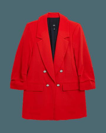 Red tailored blazer | River Island