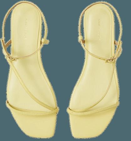 Priya Leather Strappy Sandals   Ann Taylor