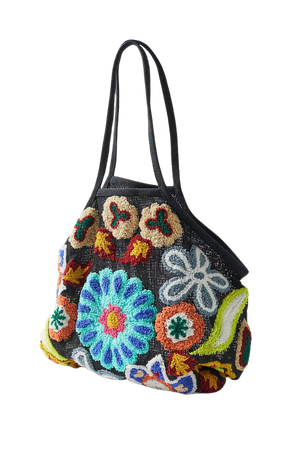UO Flower Tuft Market Tote Bag | Urban Outfitters