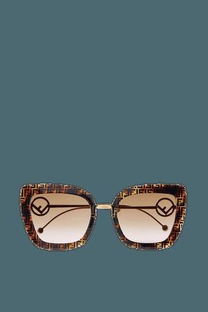 Tortoiseshell Oversized cat-eye printed tortoiseshell acetate and gold-tone sunglasses   Fendi   NET-A-PORTER