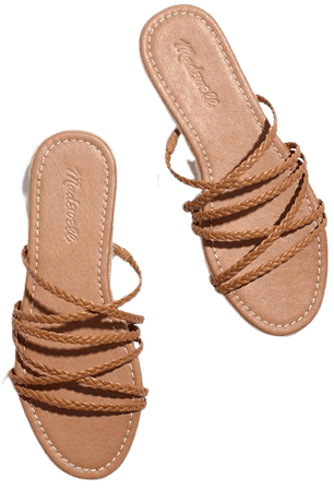 The Kathryn Espadrille Slide Sandal in Leather
