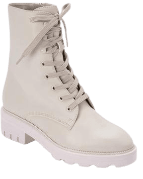 LOTTIE BOOTS IN IVORY LEATHER – Dolce Vita