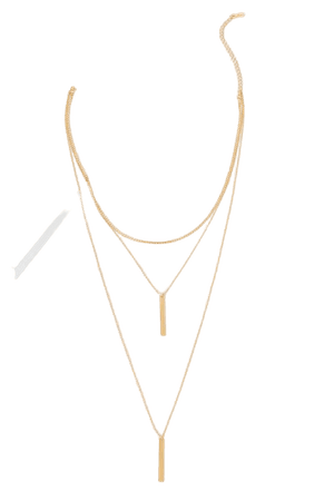Chic Gold Necklace - Choker Necklace - Layered Necklace