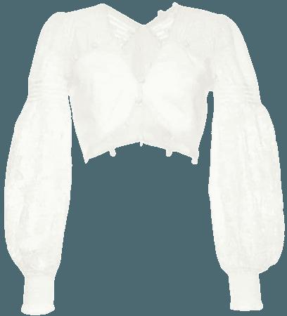 Zimmermann White Top - Farfetch