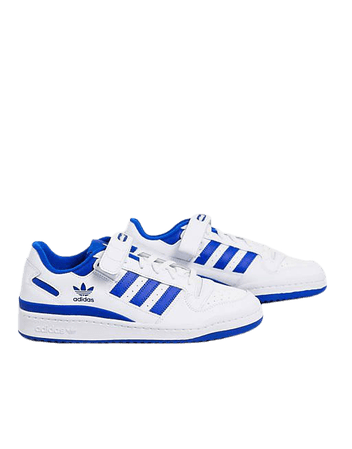adidas Originals Forum Low sneakers in white and blue | ASOS
