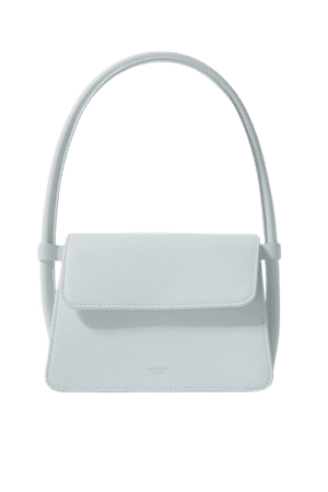 Arden Leather Tote - Sky blue