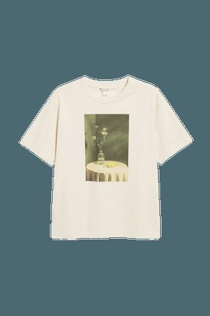 Cotton tee - Vase print - T-shirts - Monki WW