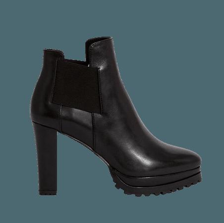 ALLSAINTS US: Womens Sarris Leather Boots (black)