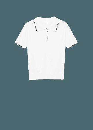 Knit contrast trim polo shirt - Women   Mango USA