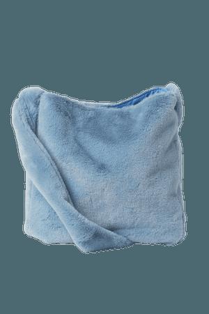 Faux Fur Shoulder Bag - Light blue - Ladies   H&M US