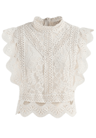 Your Sassy Start Sleeveless Crochet Lace Top in White - Retro, Indie and Unique Fashion