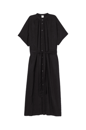 Tie Belt Dress - Black
