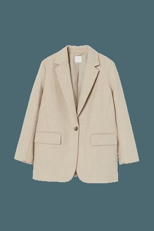 Wool-blend Blazer - Light beige - Ladies | H&M US