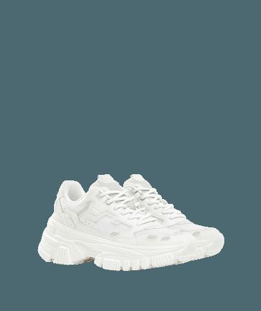 Multi-piece mesh sneakers with XL sole - SHOES - Woman | Bershka