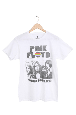 Junk Food Pink Floyd Tee - White Graphic Tee - Oversized T-Shirt - Lulus