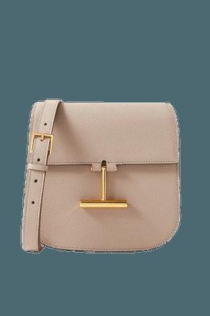 Tara Mini Textured-leather Shoulder Bag - Beige