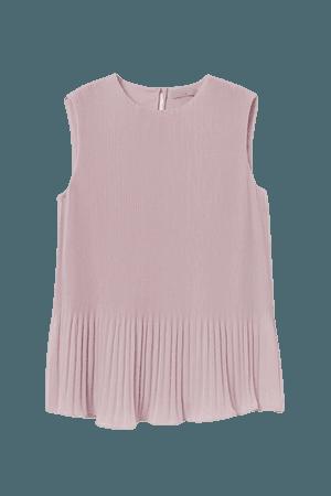 Pleated Top - Pink - Ladies | H&M US