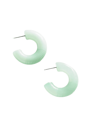 Chunky Translucent Hoop Earring | Urban Outfitters