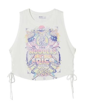 Tank top with side detail - Tees and tops - Woman | Bershka