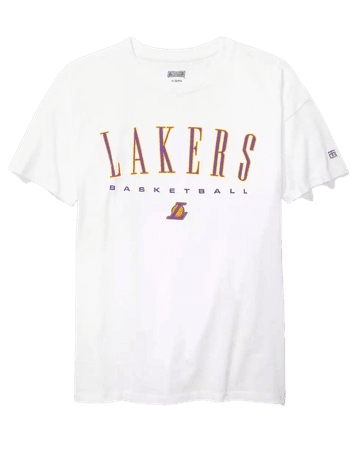 Tailgate Women's LA Lakers Oversized T-Shirt white