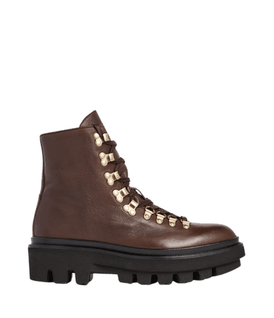 ALLSAINTS US: Womens Wanda Leather Boots (brown)