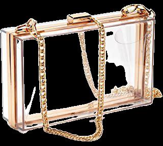 Women Clear Purse Acrylic Clear Clutch Bag, Shoulder Handbag With Removable Gold Chain Strap (Gold): Handbags: Amazon.com