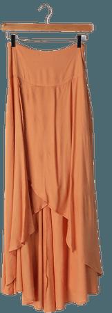 O'Neil Ambrosio Skirt - Light Orange High-Low Skirt - Maxi Skirt - Lulus