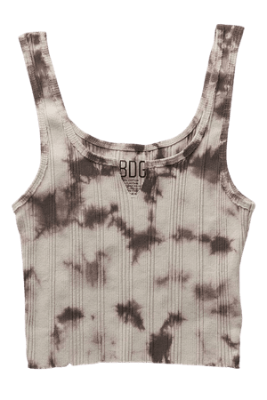 BDG Shaylee Tie-Dye Notch Tank Top | Urban Outfitters
