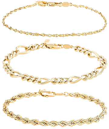 Natalie B Jewelry Triple Crown Bracelet Set in Gold | REVOLVE