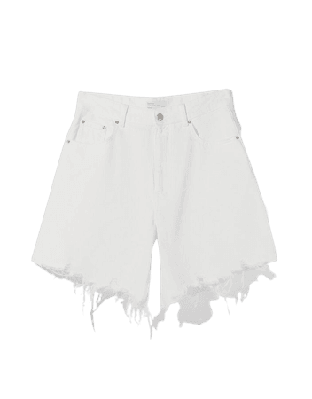 Baggy denim shorts - Denim - Woman | Bershka