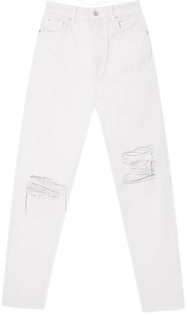 Ripped mom jeans - Women's Just in   Stradivarius United States
