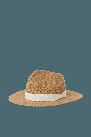 Straw Hat - Beige/white - Ladies | H&M US