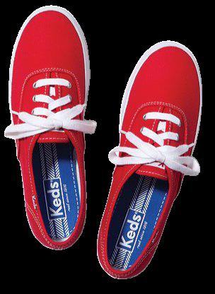 Keds - Women's Keds Champion Oxford Canvas Sneaker - Walmart.com - Walmart.com red