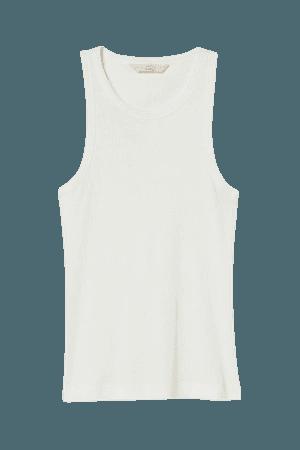 Silk-blend Tank Top - White - Ladies | H&M US