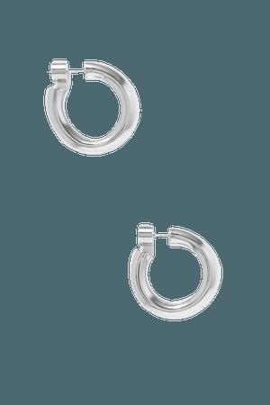 Silver Kevin silver-plated hoop earrings | Jennifer Fisher | NET-A-PORTER