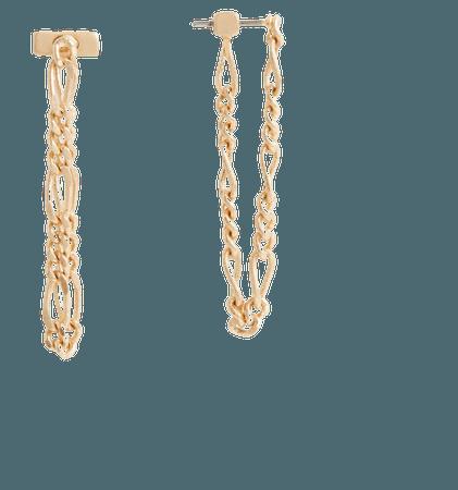 ALLSAINTS US: Womens Swag Gold-Tone Chain Earrings (warm_brass)