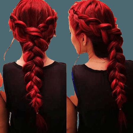 Red Hair French Braid