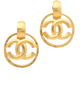 What Goes Around Comes Around Chanel Bevel CC Earrings (Previously Owned) | SHOPBOP