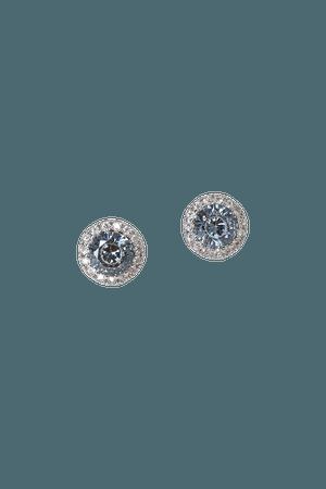 Silver and Blue Earrings - Rhodium Earrings - Wedding Earrings - Lulus