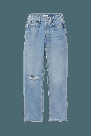 Straight High Jeans - Light denim blue - Ladies | H&M US