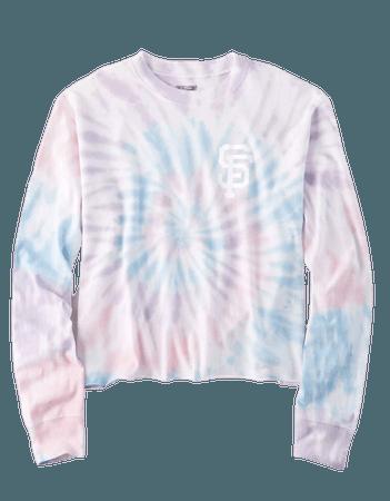 Tailgate Women's San Francisco Giants Tie-Dye T-Shirt