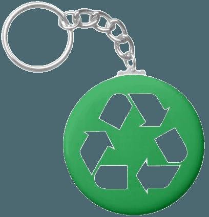 Recycle - Earth Day Keychain | Zazzle.com