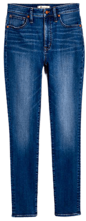 Curvy High-Rise Skinny Jeans in Bradshaw Wash