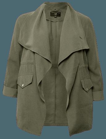 **DP Curve Khaki Waterfall Jacket   Dorothy Perkins