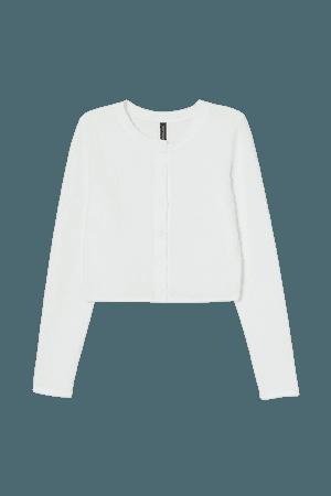 Short Cardigan - White