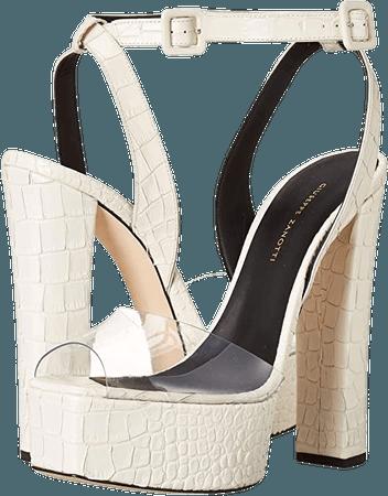 *clipped by @luci-her* Giuseppe Zanotti Women's E000096 Heeled Sandal, Transparent, 5 Medium US | Heeled Sandals