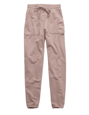 Aerie Real Good Sunwashed Fleece Distressed Jogger